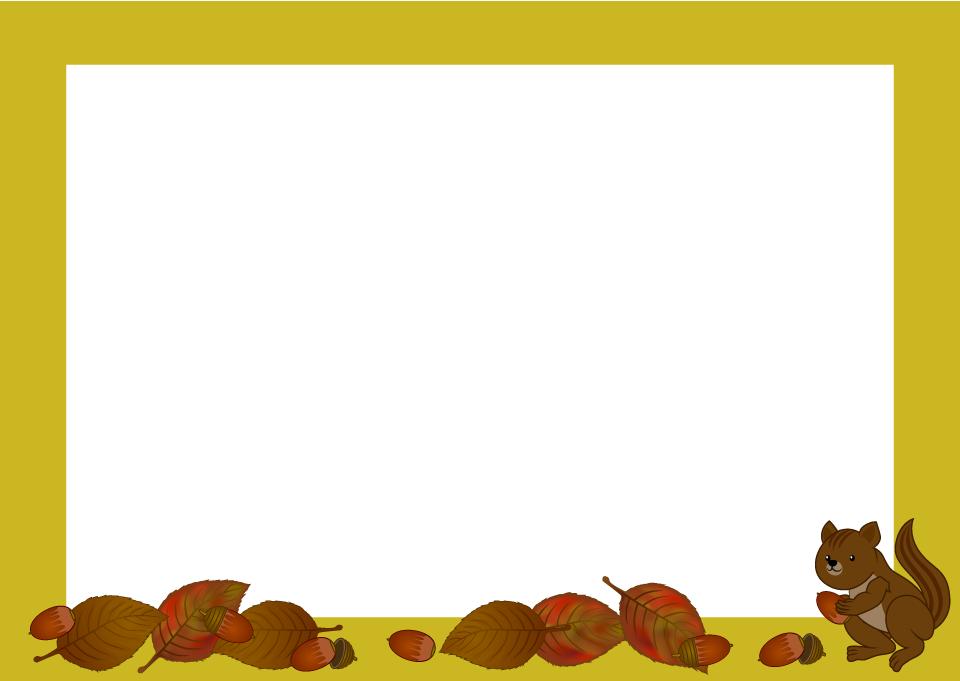 秋のフレーム枠の無料イラスト素材イラストイメージ