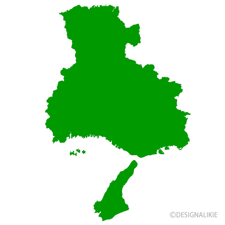 兵庫県地図の無料イラスト素材 イラストイメージ
