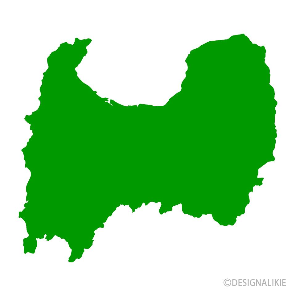 富山県地図の無料イラスト素材イラストイメージ