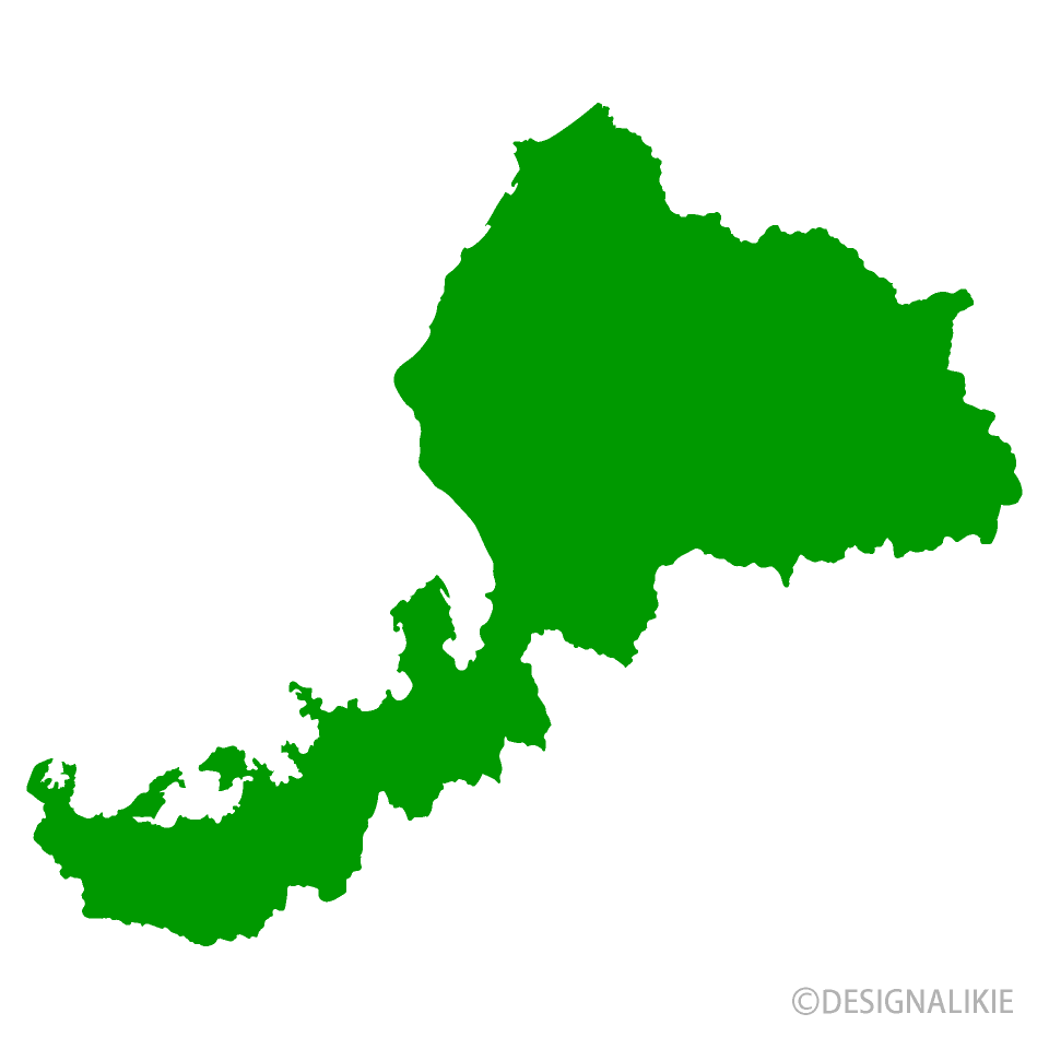 福井県地図の無料イラスト素材|...