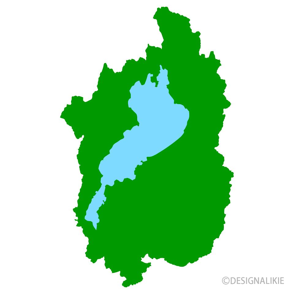 滋賀県地図の無料イラスト素材|イラストイメージ