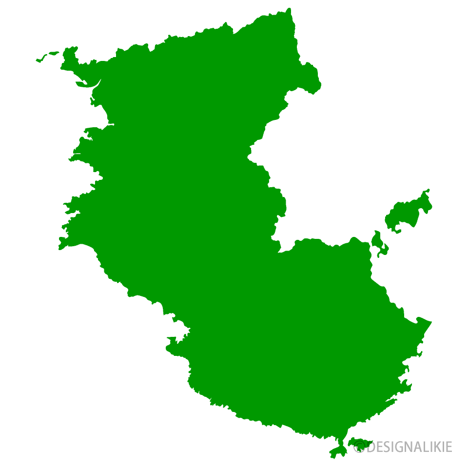 和歌山県地図の無料イラスト素材 iiイラストイメージ