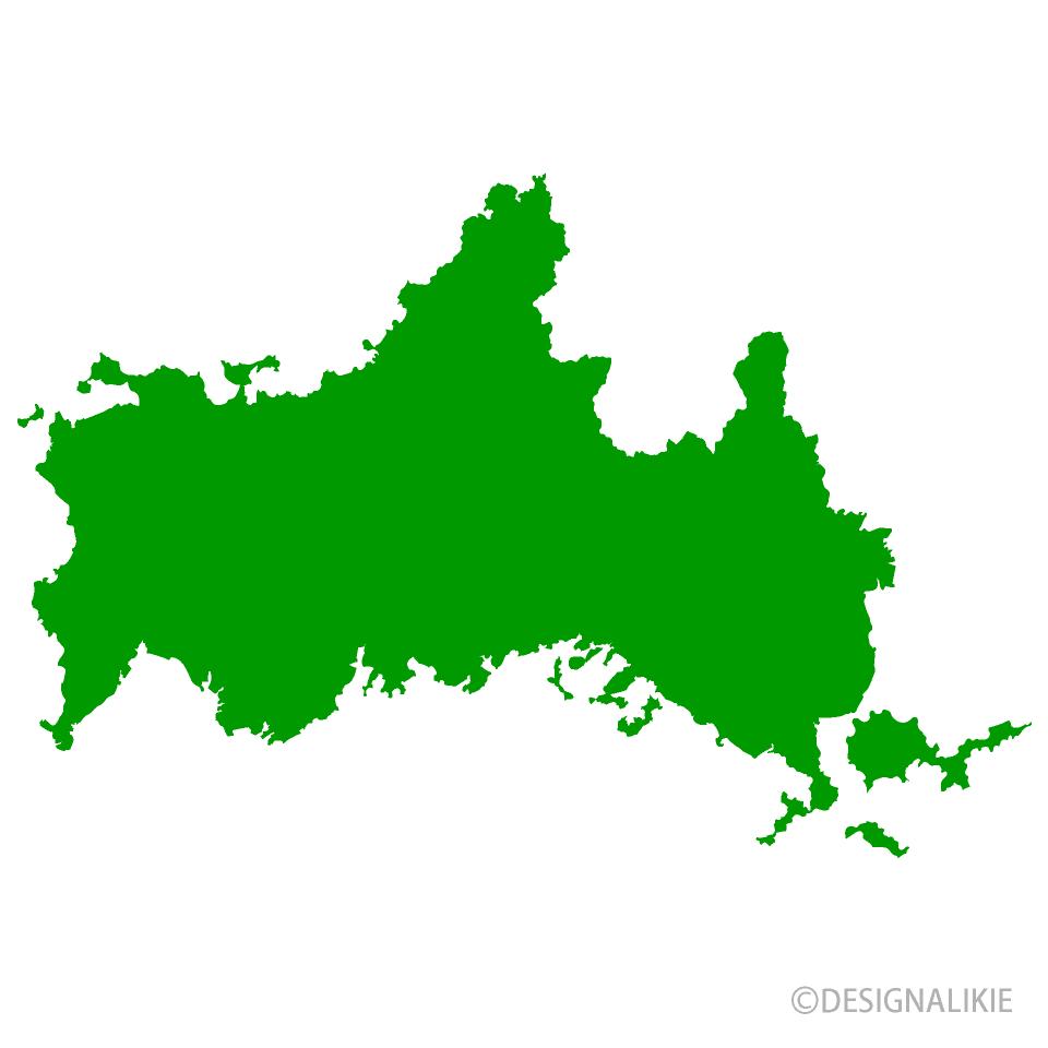 山口県地図の無料イラスト素材|イラストイメージ