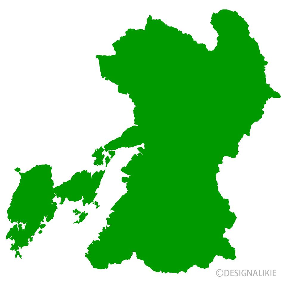 熊本県地図の無料イラスト素材|イラストイメージ