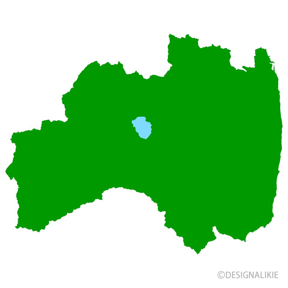 福島県地図のイラスト無料素材