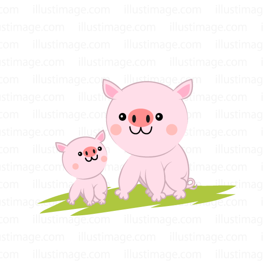 Parent and child pigs