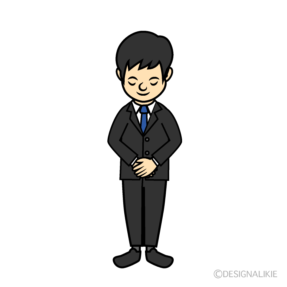 Bowing businessman clip art
