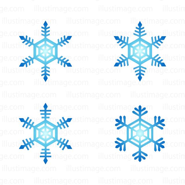 雪の結晶マークの無料イラスト素材イラストイメージ