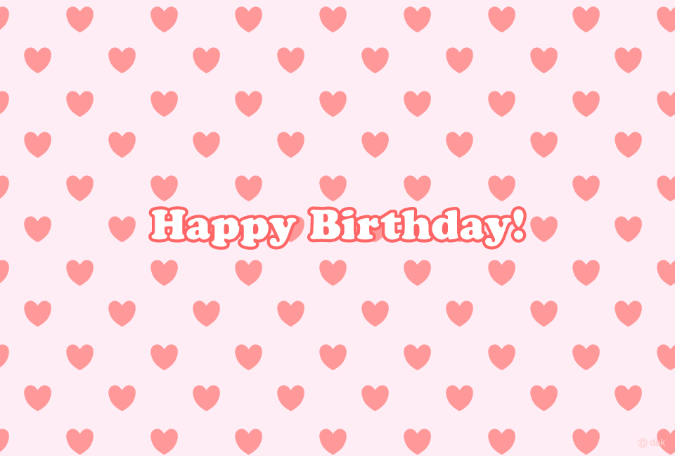 Heart wallpaper birthday card