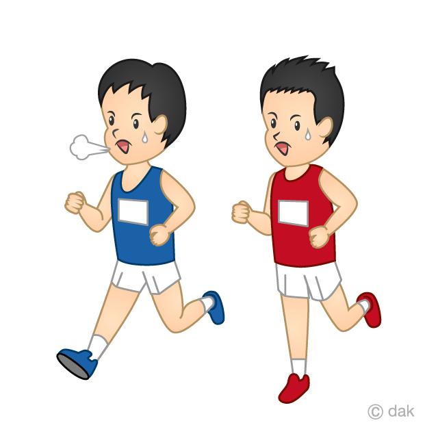 マラソンの無料イラスト素材イラストイメージ