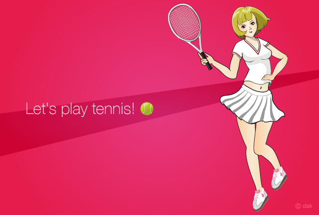 Tennis Anime Girl