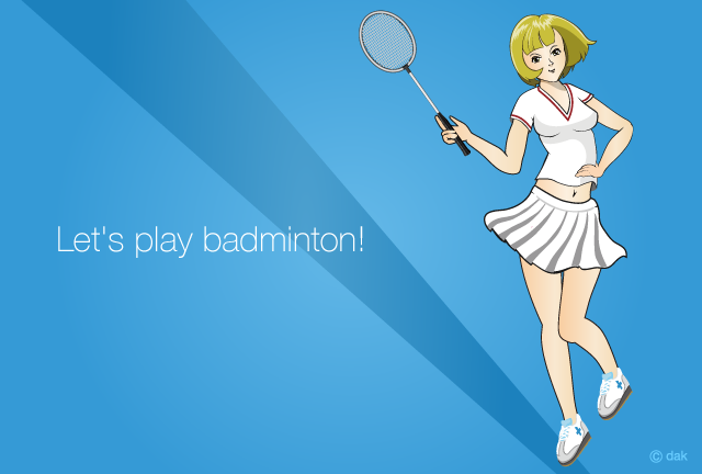 Badminton Girl Anime Girl