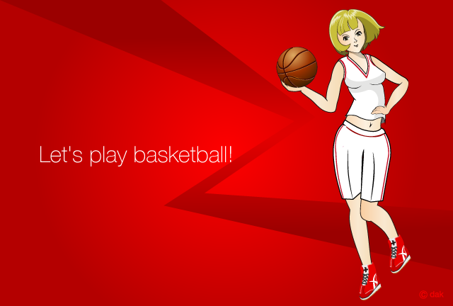 Basketball Girl of Anime Design