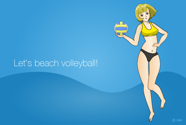 Beach Volleyball Anime Girl