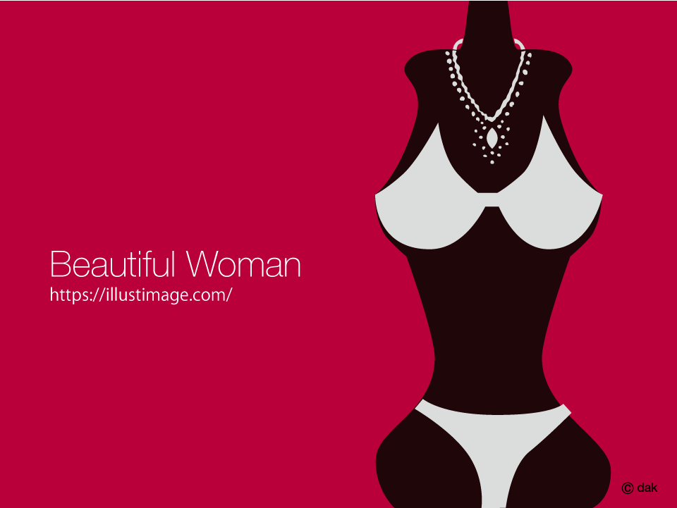 Female silhouette wearing a necklace Graphic Design