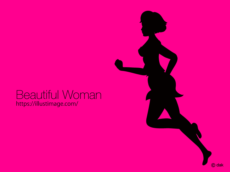 Young lady running