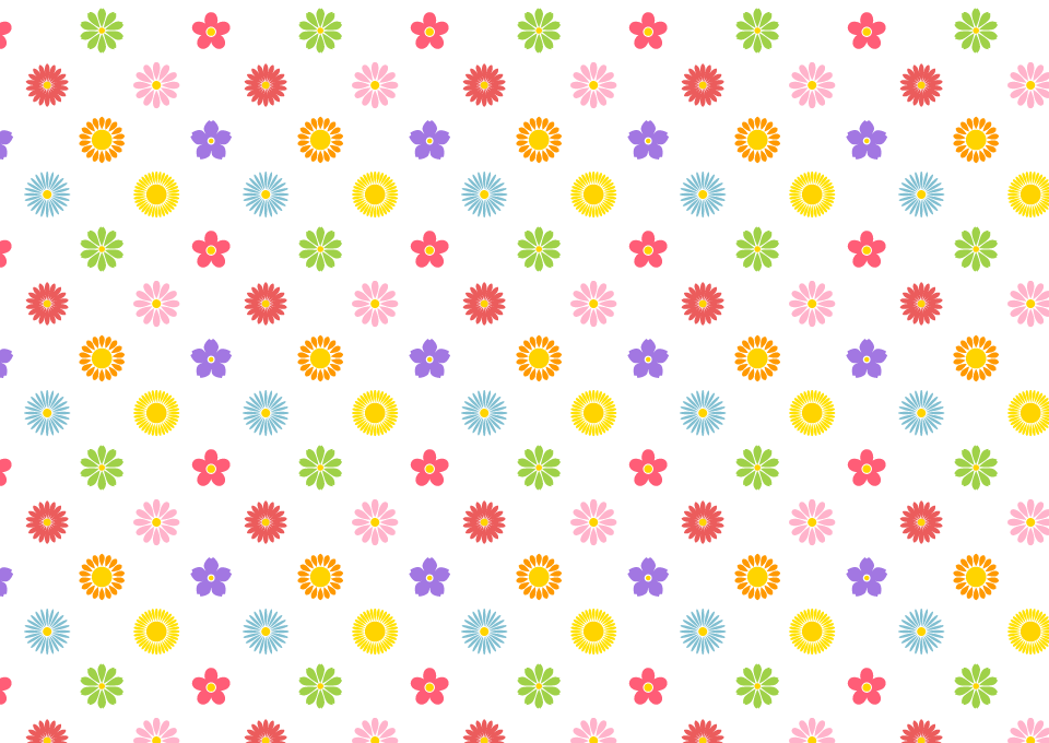 かわいい花柄の壁紙の無料イラスト素材イラストイメージ