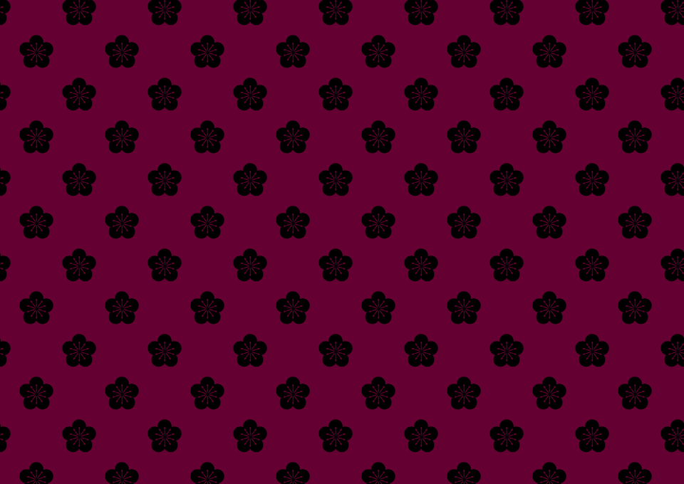 Japanese pattern of plum blossoms Wallpaper