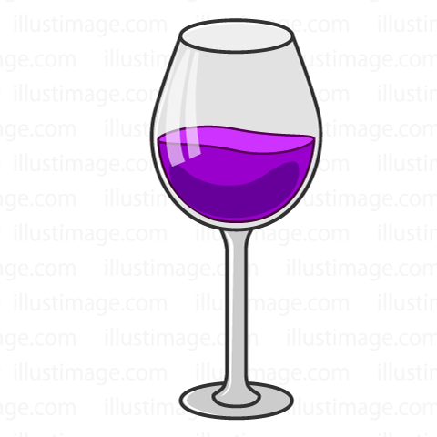 Simple red wine glasses
