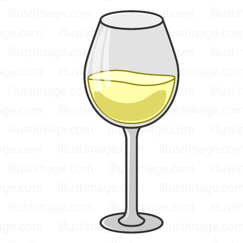 Simple white wine glass