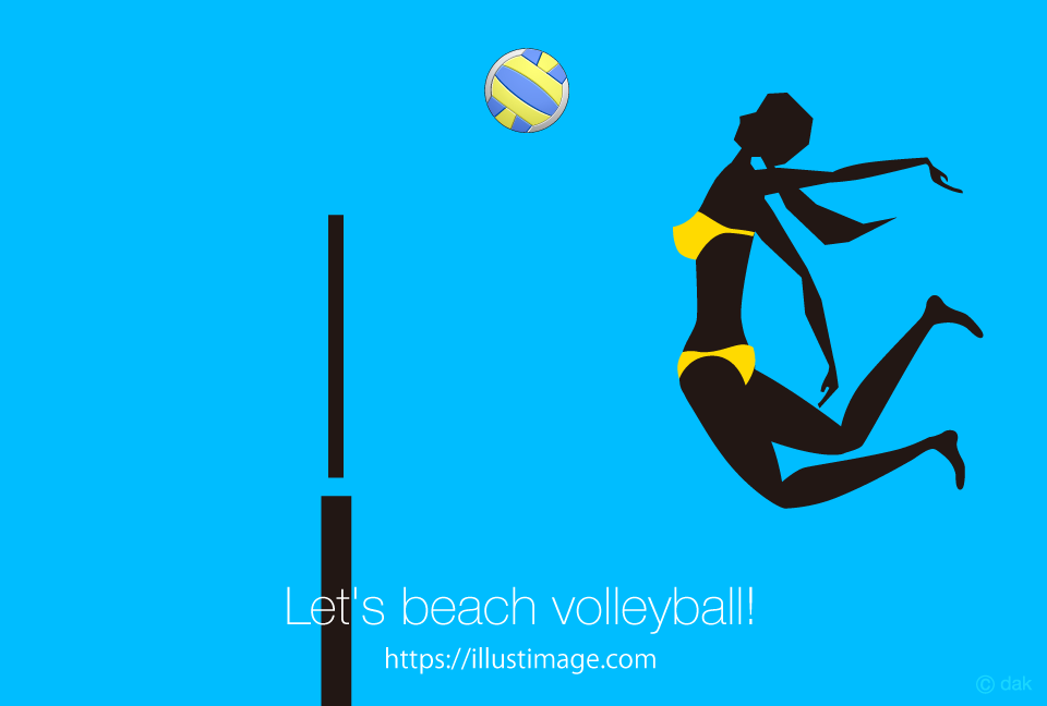 Beach volleyball female silhouette design