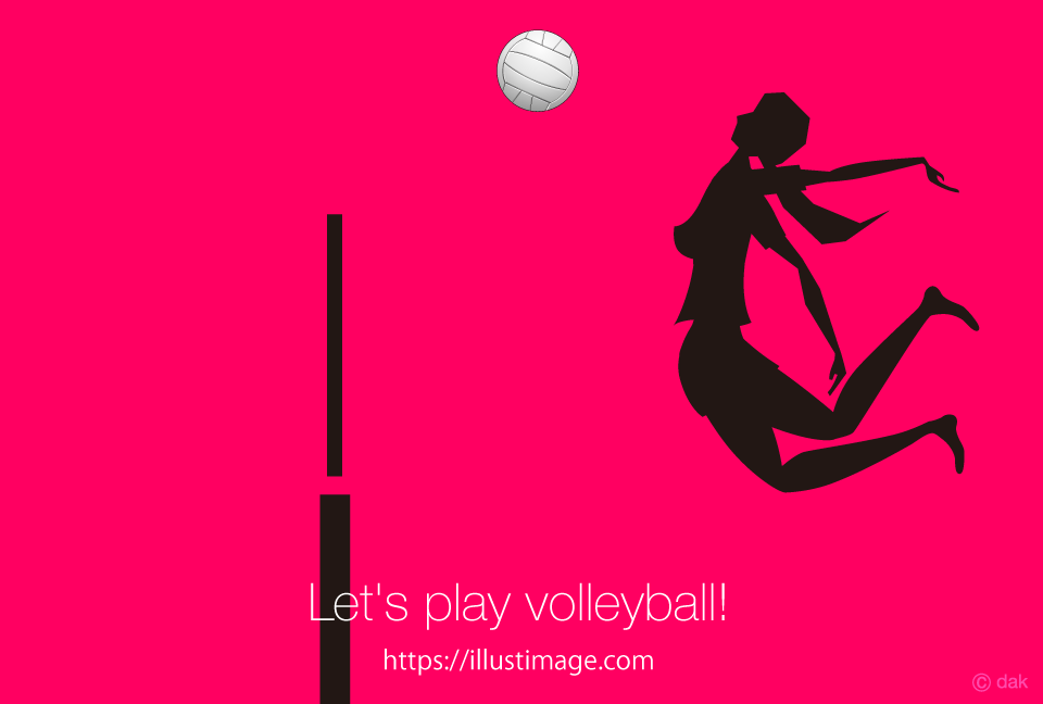 Women's volleyball silhouette design