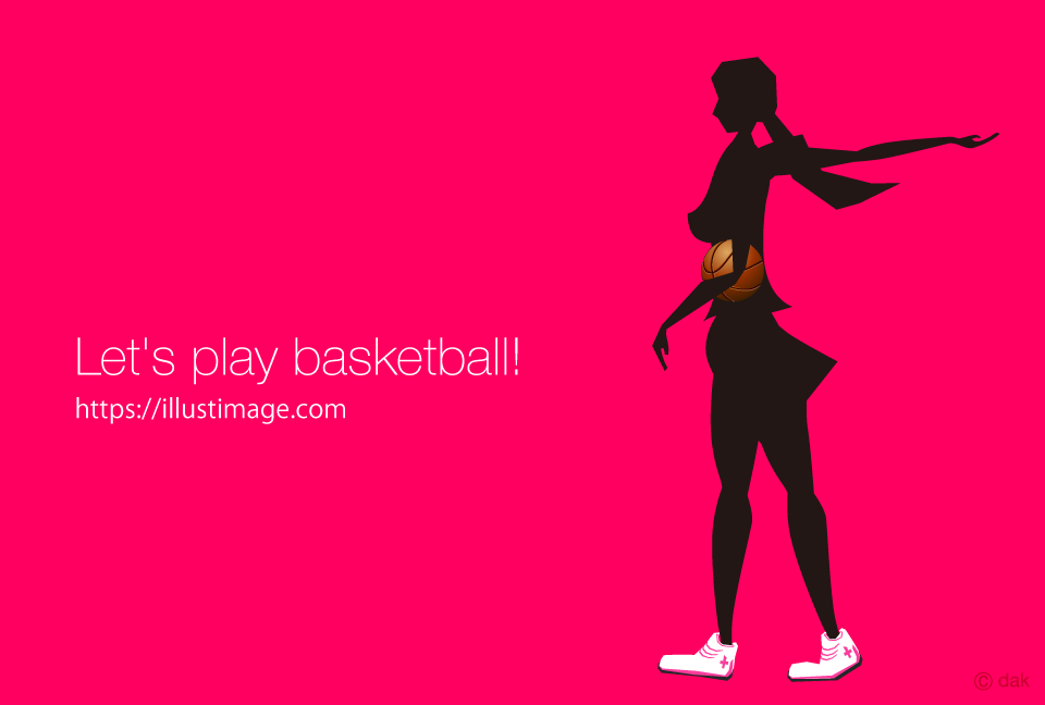 Basketball girls' silhouette design