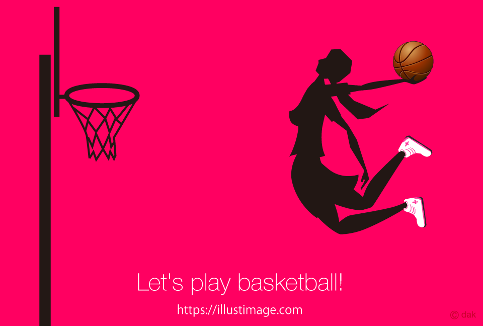 Women to dunk with basketball Graphic Design