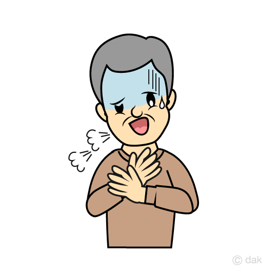 Elderly man with intense palpitations