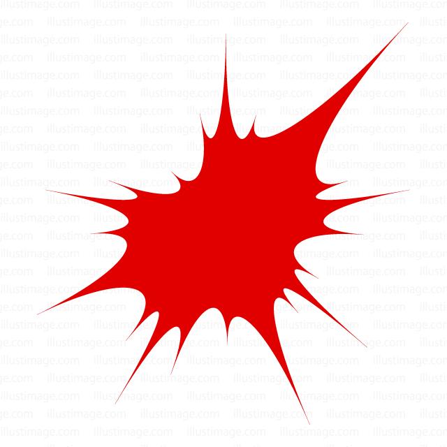 破裂した血しぶきの無料イラスト素材イラストイメージ