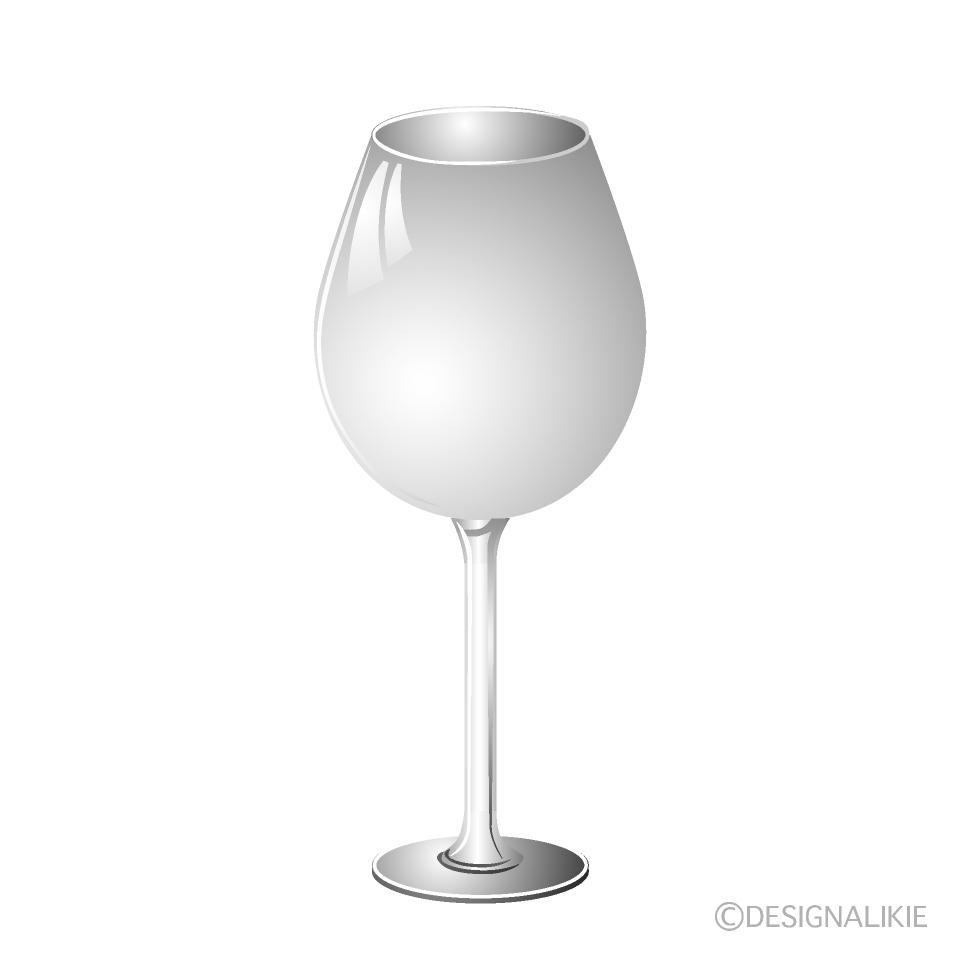 ワイングラスの無料イラスト素材イラストイメージ