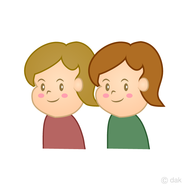 双子の子どもの無料イラスト素材イラストイメージ
