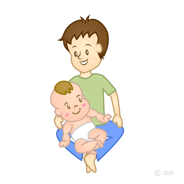 Baby and Dad Clipart