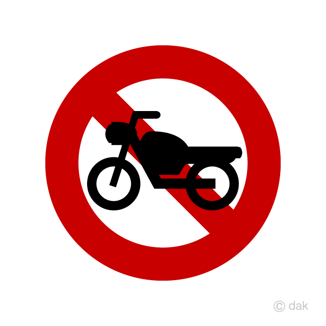 Motorcycle prohibition mark