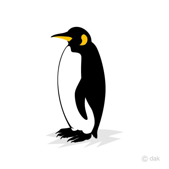 皇帝ペンギンの無料イラスト素材イラストイメージ