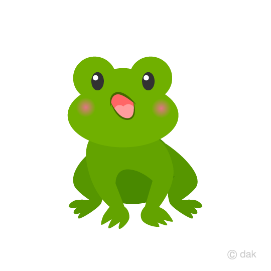 Cute frog singing clip art