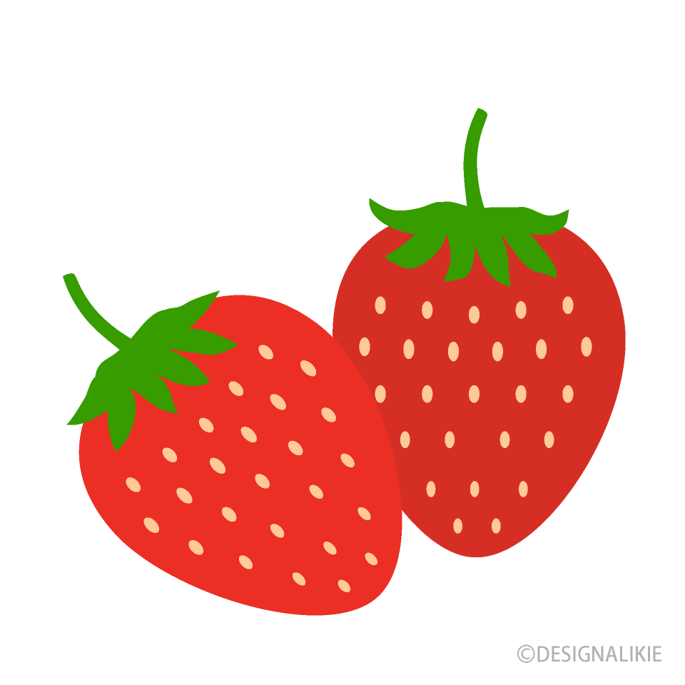 かわいい苺の無料イラスト素材 イラストイメージ