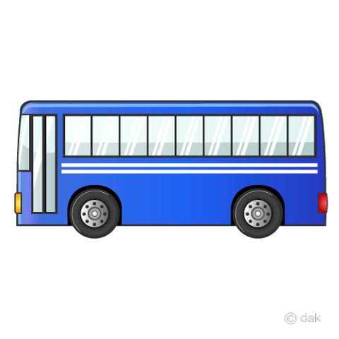 大型バスの無料イラスト素材イラストイメージ