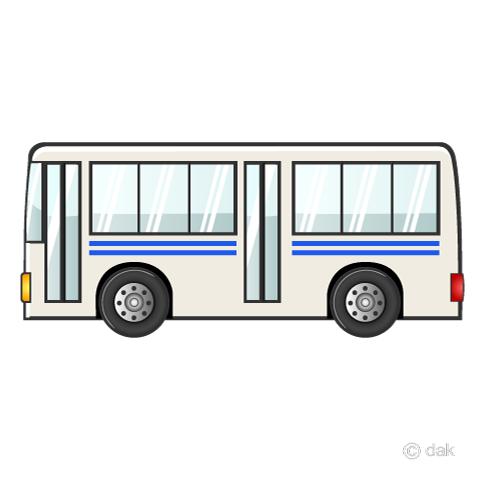 路線バスの無料イラスト素材イラストイメージ