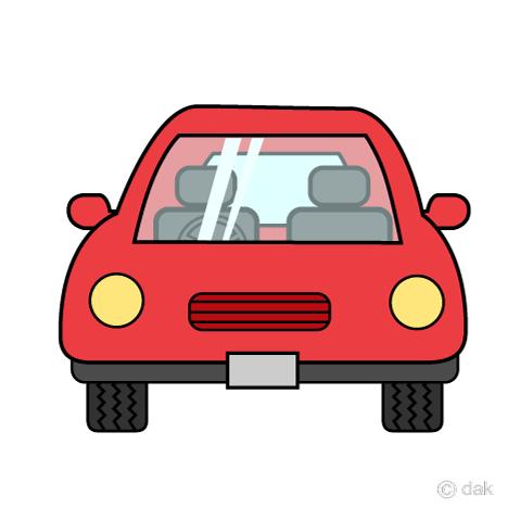 正面から見た車