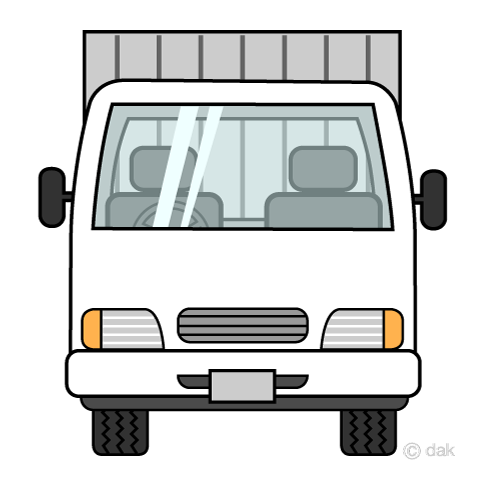 Truck front view clip art