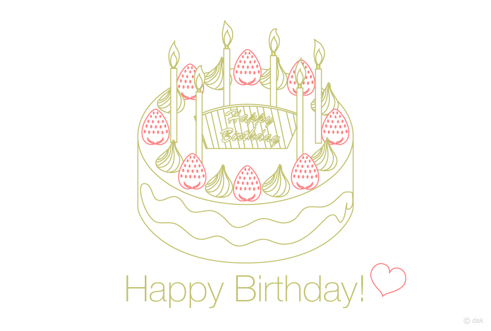 Simple birthday cake birthday card