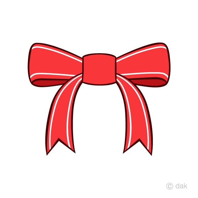 White striped red ribbon clip art