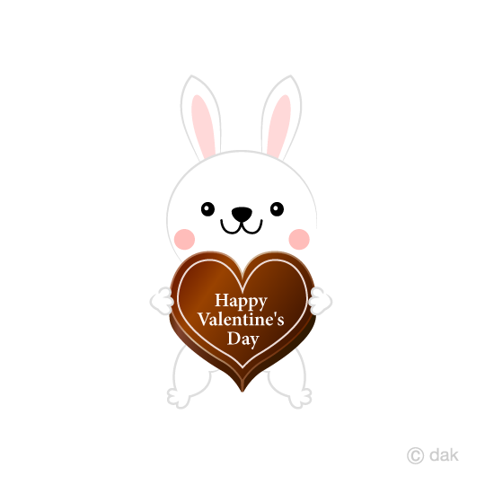 Rabbit Valentine chocolate clip art