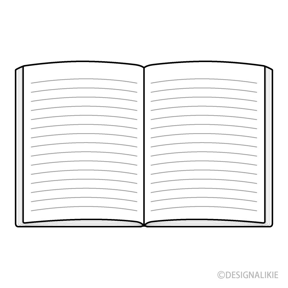 開いた本の無料イラスト素材イラストイメージ