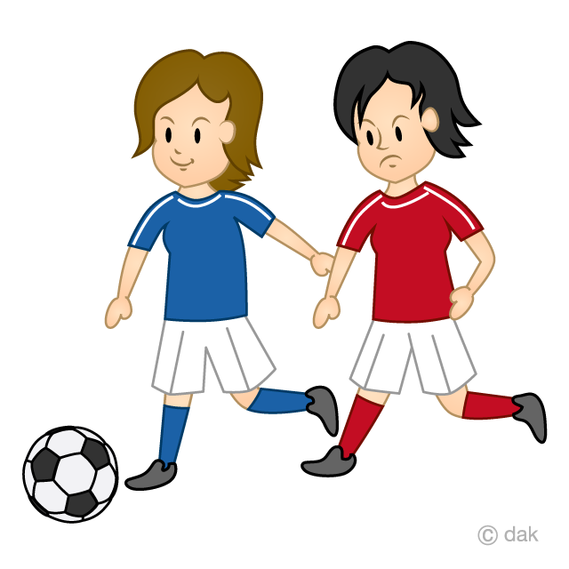 Women's soccer game clip art