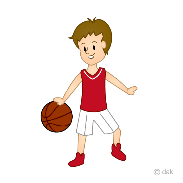 Basketball's dribble clip art