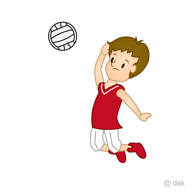 Volleyball spike clip art