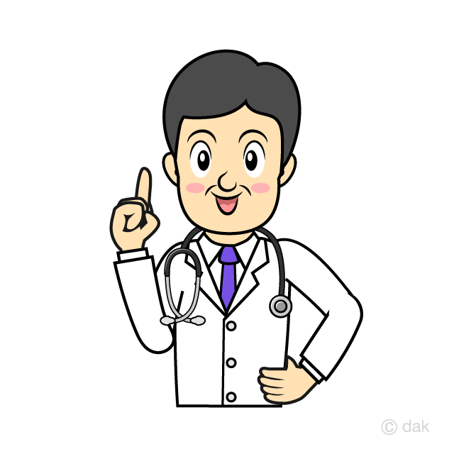 Doctor explaining treatment methods clip art