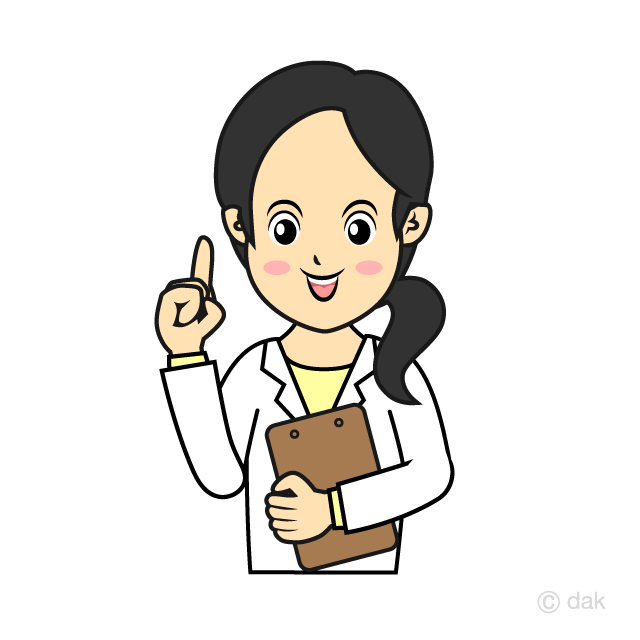Smiley female doctor clip art